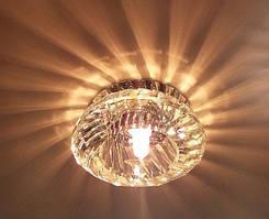 Точечный светильник Feron JD85 прозрачный / хром