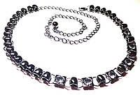 Женский металлический пояс цепочка, черный