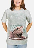 3D футболка мужская The Mountain р.S 46-48 RU футболки 3д (Лев в снегу)