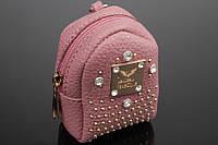 Брелок/кошелек рюкзак с заклепками и стразами, фото 1