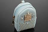 Брелок/кошелек рюкзак с заклепками и стразами, фото 7