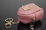 Брелок/кошелек рюкзак с заклепками и стразами, фото 2