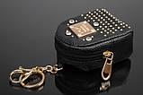 Брелок/кошелек рюкзак с заклепками и стразами, фото 3