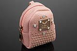 Брелок/кошелек рюкзак с заклепками и стразами, фото 6