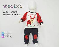 """Детский  костюм  """"Божья коровка""""из интерлока для детей до 1 года"""