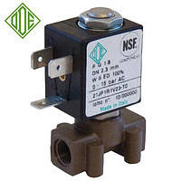 Электромагнитный клапан для воздуха, CO2, аргона 21JP1RRV23 (ODE, Italy), G1/8