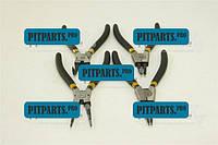 Щипцы для снятия стопорных колец набор 4 предмета 175мм СИЛА обрезиненных  (310705)