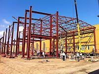Монтаж металлоконструкций промышленных цехов, зданий и сооружений