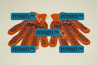 Перчатки рабочие (оранжевые с звездой)  (ПВХ 7 класс 103)