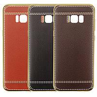 TPU с имитацией кожи для Samsung G950 Galaxy S8