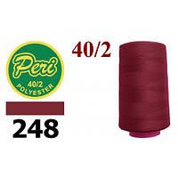Нитки для шиття, довжина 4000 яр.,колір 248, червоний темний