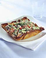 Пирог с овощным салатом