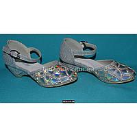 Серебристые туфли для девочки, 26 размер, нарядные туфельки на утренник, выпускной