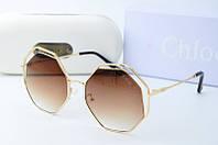 Солнцезащитные очки Chloe коричневые