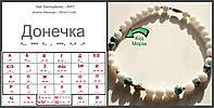"Уникальные Бусы из натурального камня ""Донечка"". Jewelry Message - Morse Code"
