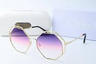 Солнцезащитные очки Chloe фиолетовые