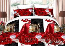 1,5-спальный комплект постельного белья 3D ТМ TAG Полисатин PS-NZ1943