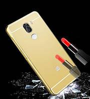 Металлический бампер с акриловой вставкой с зеркальным покрытием для Xiaomi Mi 5s Plus