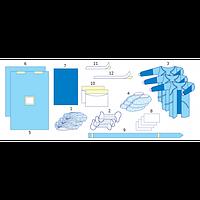 Комплект одягу та покриттів операційних для торакальної хірургії №1
