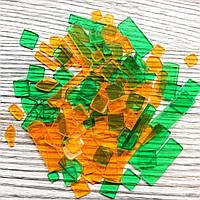 Мозаика Acrylic Желтая Зеленая акриловая 25г Mosaikstein