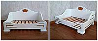 """Кровать белая для животных """"Персона Люкс"""". Массив дерева - ольха."""