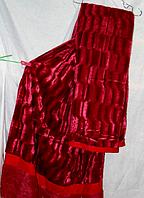 Меховый плед покрывало Норка двухстороннее 220*240.Вишня