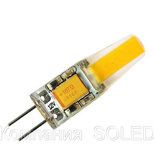 Светодиодная лампа G4 2W 190Lm COB 3000K AC/DC12