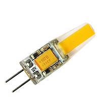 Светодиодная лампа G4 2W 190Lm COB 3000K AC/DC12, фото 1