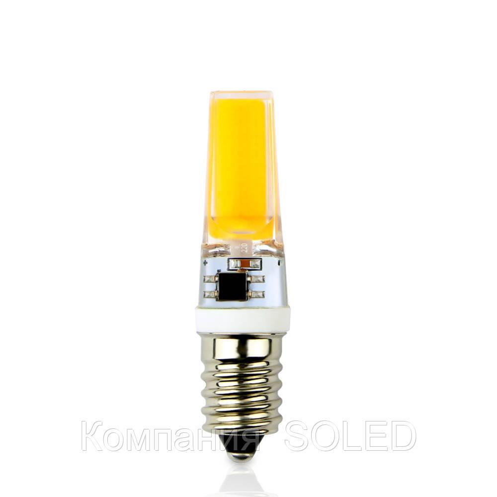 Светодиодная лампа 5w COB 500Lm 3000K E14