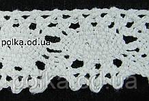 В'язане мереживо -ширина 2.5 см,колір білий (1уп-45м)