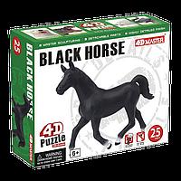 Объемный пазл Черная лошадь, 26481, 4D Master