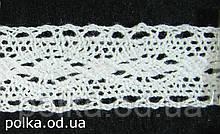 Вязаное кружево -ширина 2см,цвет белый(1уп=46м)