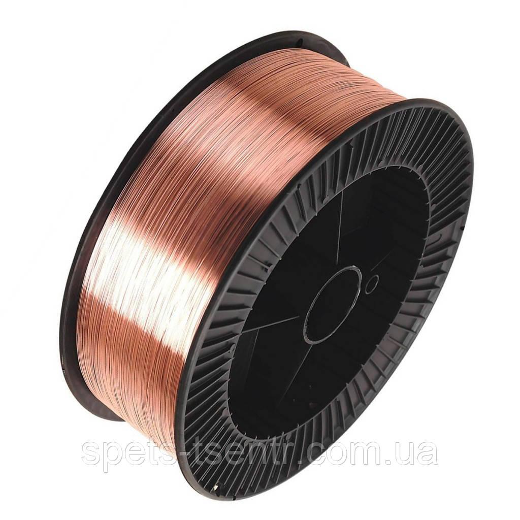 Проволока омеднённая сварочная 5 кг ER70S-6 диаметр 0.8 мм