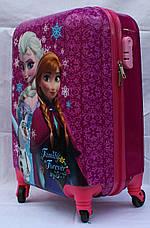 Чемодан дорожный детский с кодовым замком 55 см ручная кладь Холодное Сердце Frozen 2561-67, фото 3