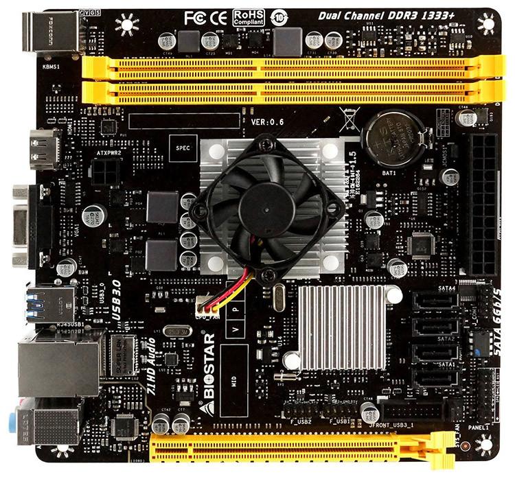 "Материнская плата Biostar A68N-5545 DDR3 ""Over-Stock"""
