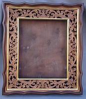 Киот для иконы, с резной рамой и золочёными штапиками., фото 1