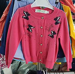 Кофта с бабочками  для девочек на пуговицах