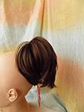 """Хвост короткий """"рожки"""" на крабе светлый шатен 6454А -31, фото 4"""