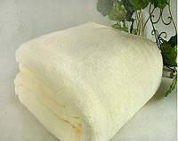 Микрофибровая простынь, покрывало Elway полуторное Однотонный белый
