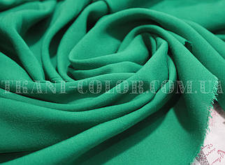 Тканина штапель зелена бірюза