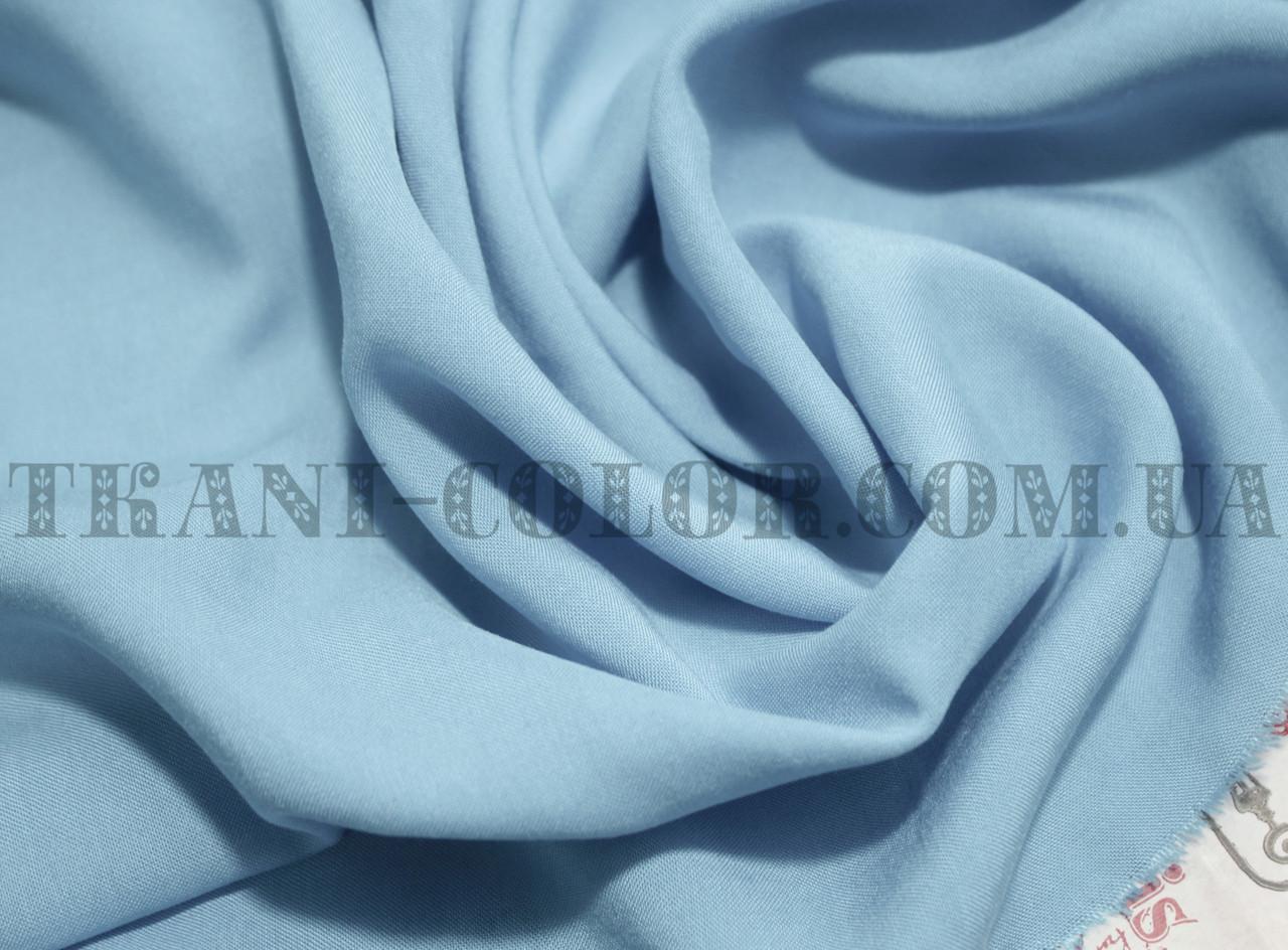 Ткань штапель голубой