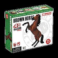 Объемный пазл Скачущая коричневая лошадь, 26459, 4D Master, фото 1