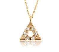 Кулон Пирамида позолота с цепочкой, фото 1