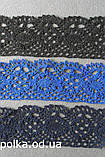 В'язане мереживо біле льон 4.5 см (1уп=46м), фото 4