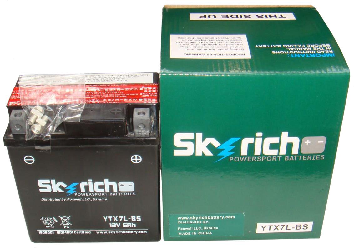 Аккумулятор SKYRICH Powersport YTX7L-BS 12V 6Ah, фото 1