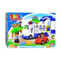 """Конструктор с большими деталями JDLT (LEGO Duplo) """"Полицейский участок"""" 36 деталей, 5132"""