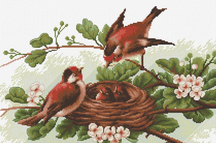 BM3005 Семейное гнездо. Набор для вышивки крестом Luca-S