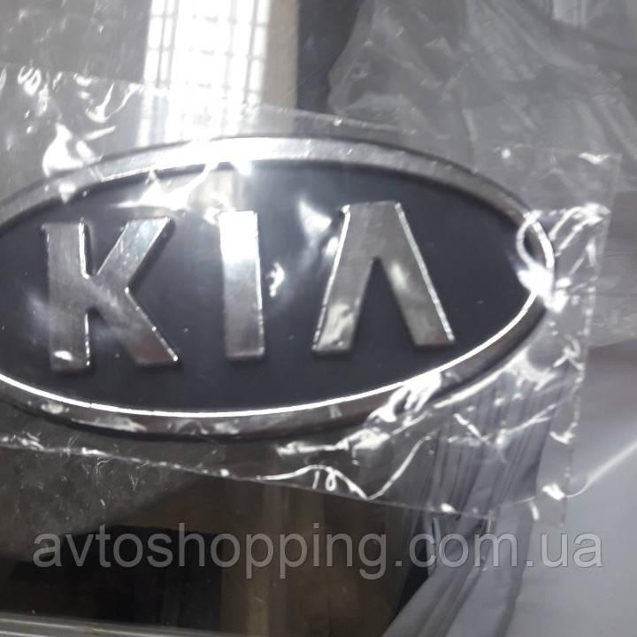 Эмблема значок на решетку радиатора Kia Киа на капот передняя! 117Х60 мм