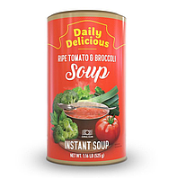 Дейли Делишес суп из спелых томатов и брокколи Daily Delicious Ripe Tomato & Broccoli Soup 525 г/ 15 порций