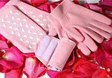 Gel Spa Gloves.(Гелевые увлажняющие перчатки) Розовые , фото 4